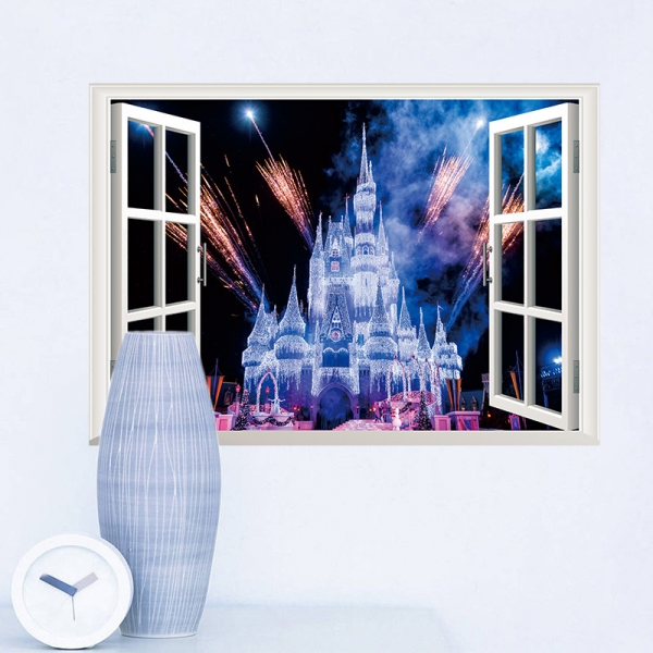 Stickere 3D pentru fete- Castel cu artificii 4