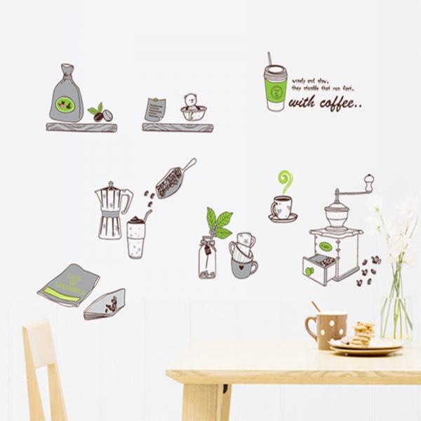 Sticker pentru bucatarie - Fabrica de cafea