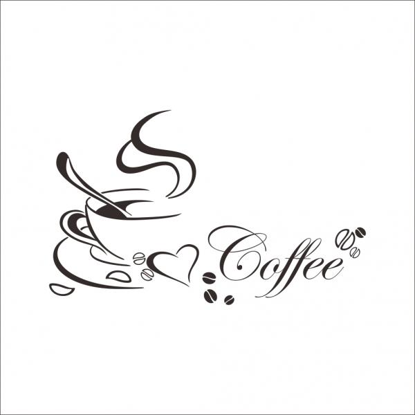 Stickere bucatarii - I love coffee - Ceasca de cafea 3