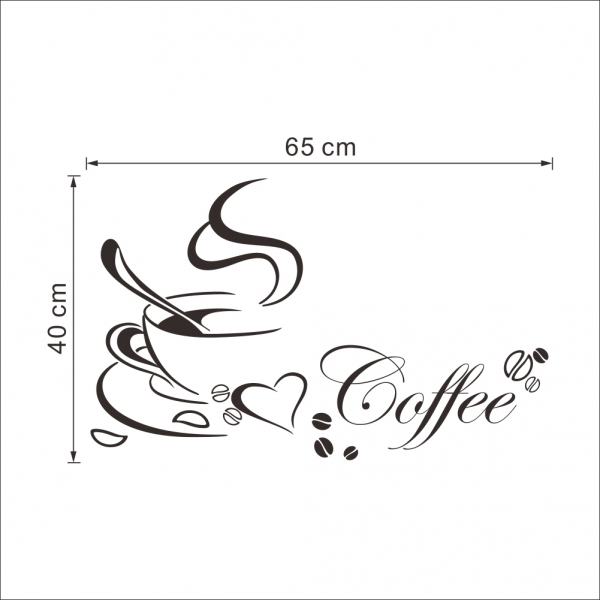 Stickere bucatarii - I love coffee - Ceasca de cafea 4