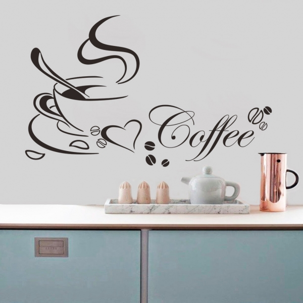 Stickere bucatarii - I love coffee - Ceasca de cafea 1