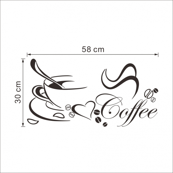 Stickere bucatarii - I love coffee - Ceasca de cafea 5