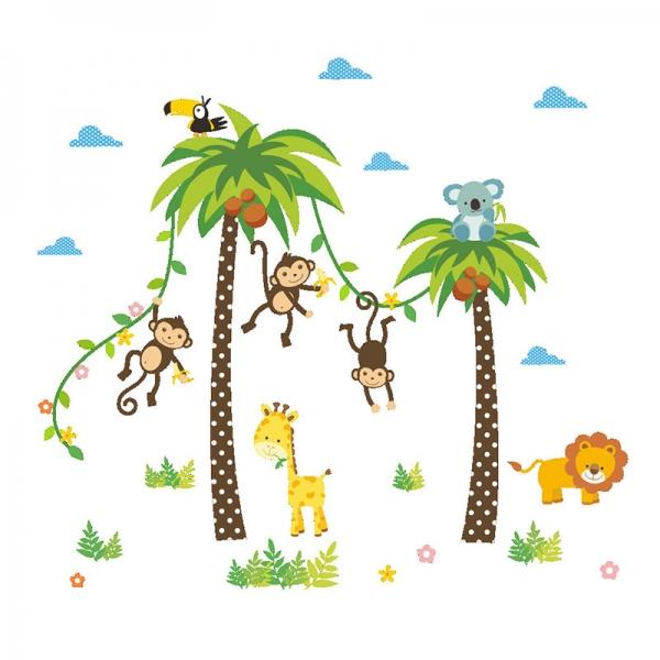 Stickere camere bebelusi - Palmieri si animale 4