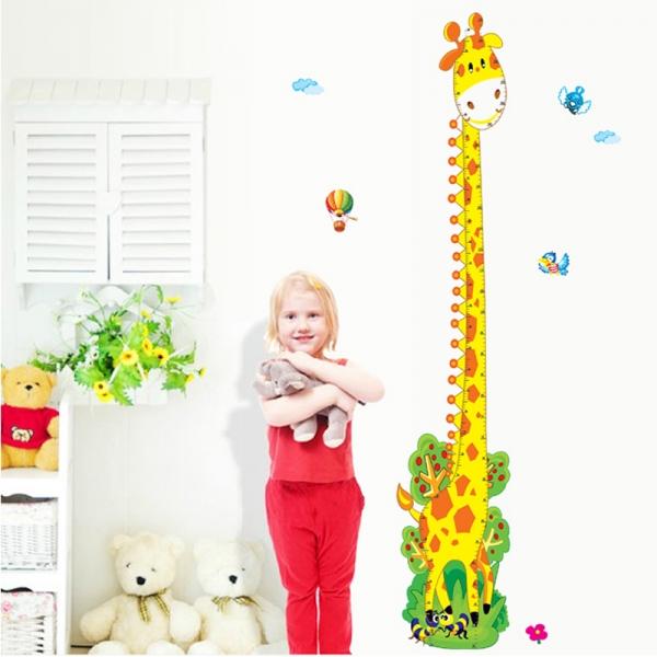 Stickere copii - Grafic de crestere girafa vesela - masurator inaltime 2