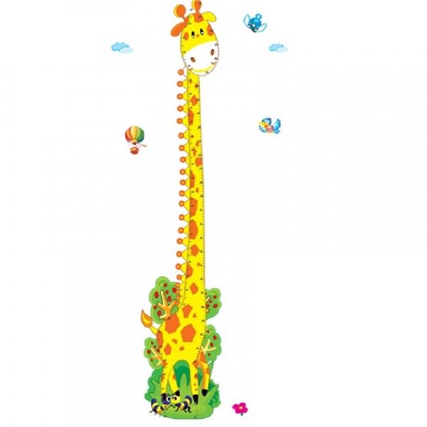 Stickere copii - Grafic de crestere girafa vesela - masurator inaltime 7