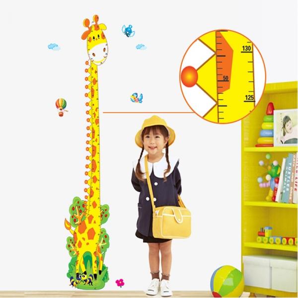 Stickere copii - Grafic de crestere girafa vesela - masurator inaltime 4