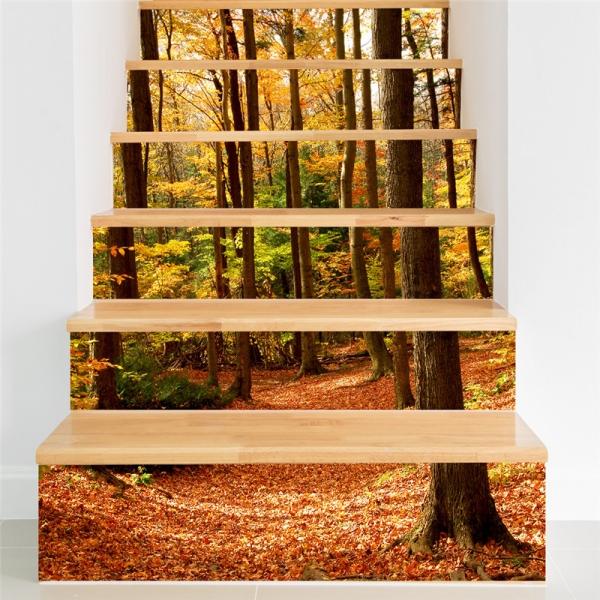 Stickere decorativ scari - Padure tomnatica - 6 folii de 18x100 cm 0