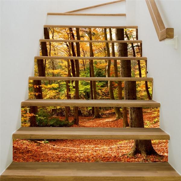 Stickere decorativ scari - Padure tomnatica - 6 folii de 18x100 cm 2