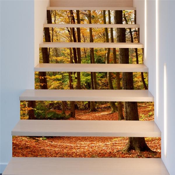 Stickere decorativ scari - Padure tomnatica - 6 folii de 18x100 cm 1