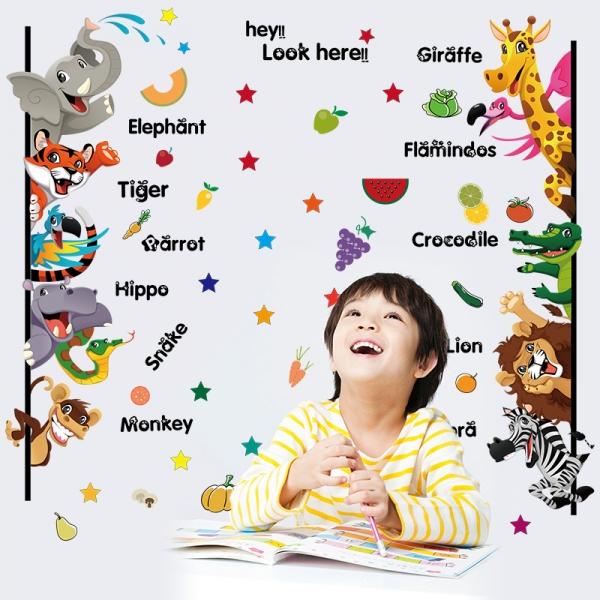 Stickere pentru copii - Animale,legume, fructe (in engleza)