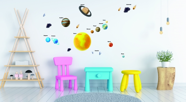 Stickere pentru copii - Sistemul solar - Planete 1