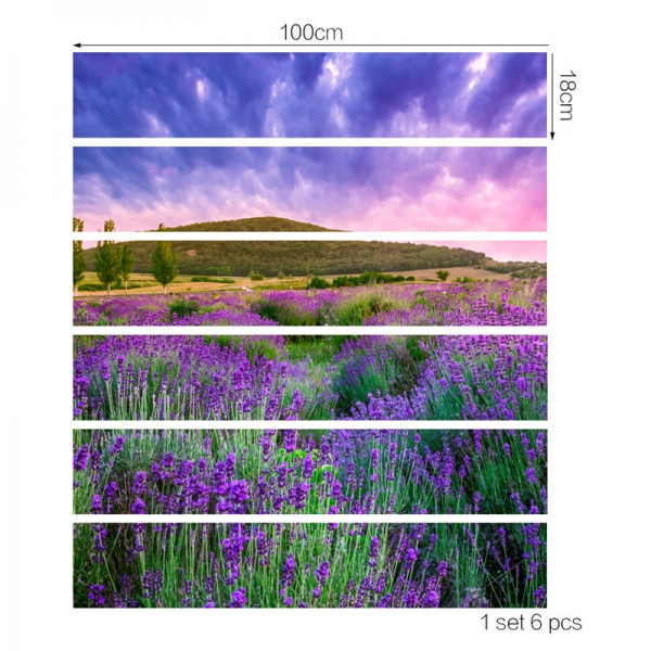 Stickere pentru trepte - Lan de lavanda - 6 folii de 18x100 cm 3
