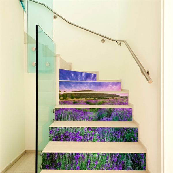 Stickere pentru trepte - Lan de lavanda - 6 folii de 18x100 cm 1