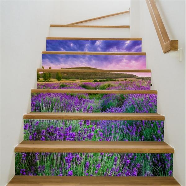 Stickere pentru trepte - Lan de lavanda - 6 folii de 18x100 cm 2