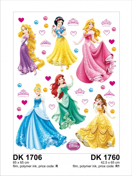 Sticker Printese Disney - 65x85cm - DK1706