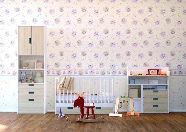 Tapet pentru camera copiilor - netesut crem cu Winnie the Pooh - Walt Disney 1